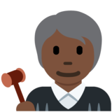 Judge: Dark Skin Tone on Twitter Twemoji 12.1.5