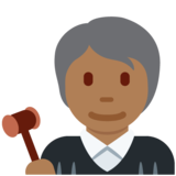 Judge: Medium-Dark Skin Tone on Twitter Twemoji 12.1.5
