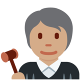 Judge: Medium Skin Tone on Twitter Twemoji 12.1.5