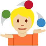 Person Juggling: Medium-Light Skin Tone on Twitter Twemoji 12.1.5