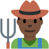 Man Farmer: Dark Skin Tone on Twitter Twemoji 12.1.5