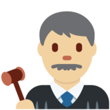 Man Judge: Medium-Light Skin Tone on Twitter Twemoji 12.1.5