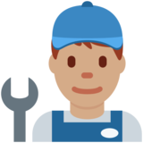 Man Mechanic: Medium Skin Tone on Twitter Twemoji 12.1.5