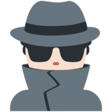 Man Detective: Light Skin Tone on Twitter Twemoji 12.1.5