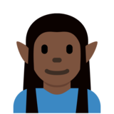 Man Elf: Dark Skin Tone on Twitter Twemoji 12.1.5