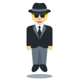 Person in Suit Levitating: Medium-Light Skin Tone on Twitter Twemoji 12.1.5