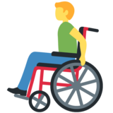 Man in Manual Wheelchair on Twitter Twemoji 12.1.5