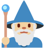 Man Mage: Medium-Light Skin Tone on Twitter Twemoji 12.1.5