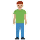 Man Standing: Medium Skin Tone on Twitter Twemoji 12.1.5