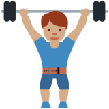 Man Lifting Weights: Medium Skin Tone on Twitter Twemoji 12.1.5