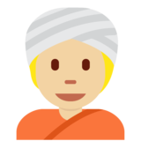 Person Wearing Turban: Medium-Light Skin Tone on Twitter Twemoji 12.1.5