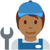 Mechanic: Medium-Dark Skin Tone on Twitter Twemoji 12.1.5