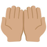 Palms Up Together: Medium Skin Tone on Twitter Twemoji 12.1.5