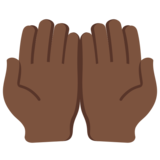 Palms Up Together: Dark Skin Tone on Twitter Twemoji 12.1.5
