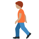 Person Walking: Medium Skin Tone on Twitter Twemoji 12.1.5