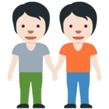 People Holding Hands: Light Skin Tone on Twitter Twemoji 12.1.5