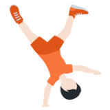 Person Cartwheeling: Light Skin Tone on Twitter Twemoji 12.1.5