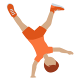 Person Cartwheeling: Medium Skin Tone on Twitter Twemoji 12.1.5