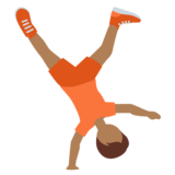 Person Cartwheeling: Medium-Dark Skin Tone on Twitter Twemoji 12.1.5