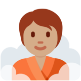 Person in Steamy Room: Medium Skin Tone on Twitter Twemoji 12.1.5