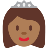 Princess: Medium-Dark Skin Tone on Twitter Twemoji 12.1.5