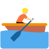 Person Rowing Boat: Medium-Light Skin Tone on Twitter Twemoji 12.1.5