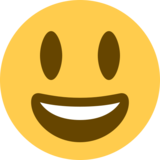 Grinning Face with Big Eyes on Twitter Twemoji 12.1.5