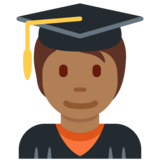 Student: Medium-Dark Skin Tone on Twitter Twemoji 12.1.5