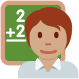 Teacher: Medium Skin Tone on Twitter Twemoji 12.1.5