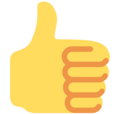 Thumbs Up on Twitter Twemoji 12.1.5