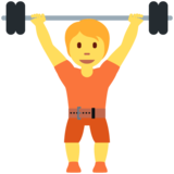 Person Lifting Weights on Twitter Twemoji 12.1.5