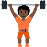Person Lifting Weights: Dark Skin Tone on Twitter Twemoji 12.1.5