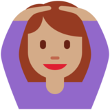 Woman Gesturing OK: Medium Skin Tone on Twitter Twemoji 12.1.5