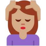 Woman Getting Massage: Medium Skin Tone on Twitter Twemoji 12.1.5