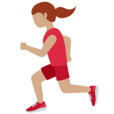 Woman Running: Medium Skin Tone on Twitter Twemoji 12.1.5