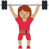 Woman Lifting Weights: Medium Skin Tone on Twitter Twemoji 12.1.5