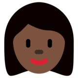 Woman: Dark Skin Tone on Twitter Twemoji 12.1.5