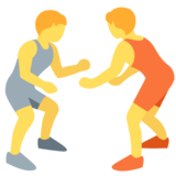 People Wrestling on Twitter Twemoji 12.1.5