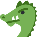 Dragon Face on Twitter Twemoji 12.1.6
