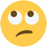 Face with Rolling Eyes on Twitter Twemoji 12.1.6