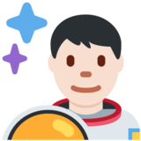 Man Astronaut: Light Skin Tone on Twitter Twemoji 12.1.6