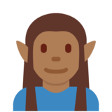 Man Elf: Medium-Dark Skin Tone on Twitter Twemoji 12.1.6