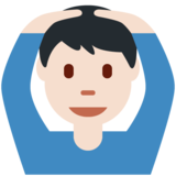 Man Gesturing OK: Light Skin Tone on Twitter Twemoji 12.1.6