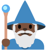 Man Mage: Dark Skin Tone on Twitter Twemoji 12.1.6