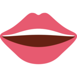 Mouth on Twitter Twemoji 12.1.6