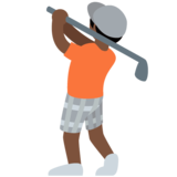 Person Golfing: Dark Skin Tone on Twitter Twemoji 12.1.6