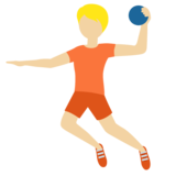 Person Playing Handball: Medium-Light Skin Tone on Twitter Twemoji 12.1.6