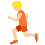 Person Running: Medium-Light Skin Tone on Twitter Twemoji 12.1.6