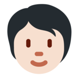 Person: Light Skin Tone on Twitter Twemoji 12.1.6