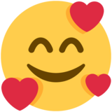 Smiling Face with Hearts on Twitter Twemoji 12.1.6